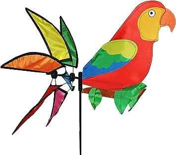 Asuka Papagei Windmühle Windrad Windmühlen Windmill Parrot Vogel Gartendeko