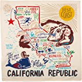 California State Dish Towel Primitives by Kathy
