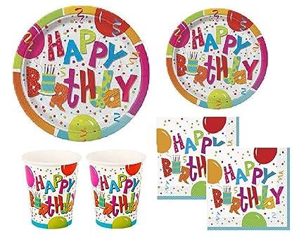 Amazon.com: Jamboree Fiesta de cumpleaños suministros Pack ...