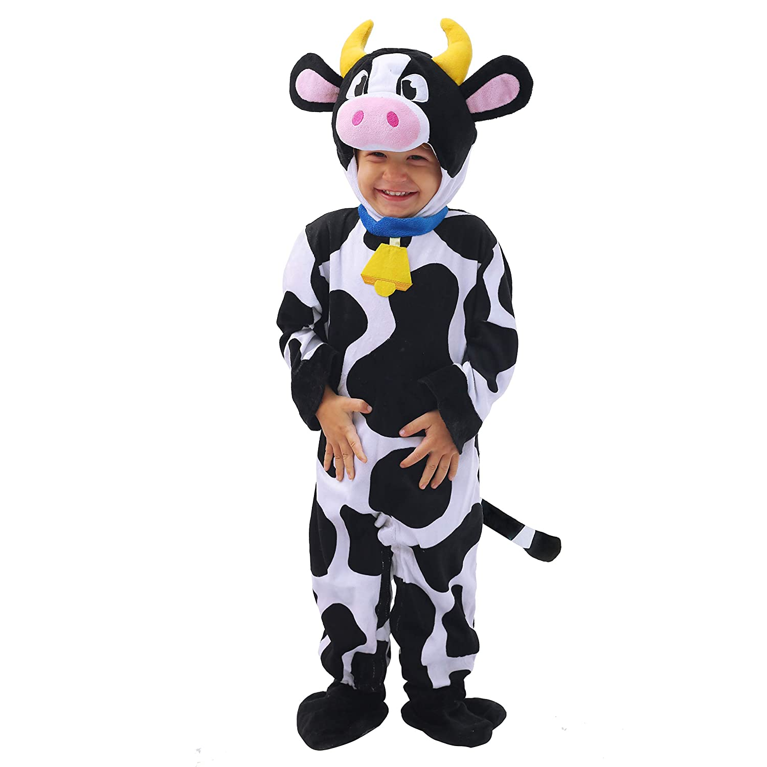 Spooktacular Creations Baby Cow Costume Lovely Deluxe Set Kids Halloween Trick Treat Farm Party Dress Up