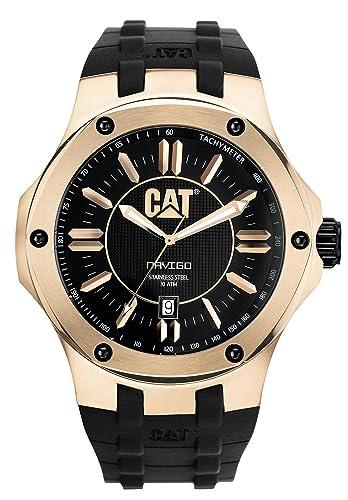 CAT A1.191.21.129 - Reloj analógico de cuarzo para hombre, correa de goma color negro: Amazon.es: Relojes