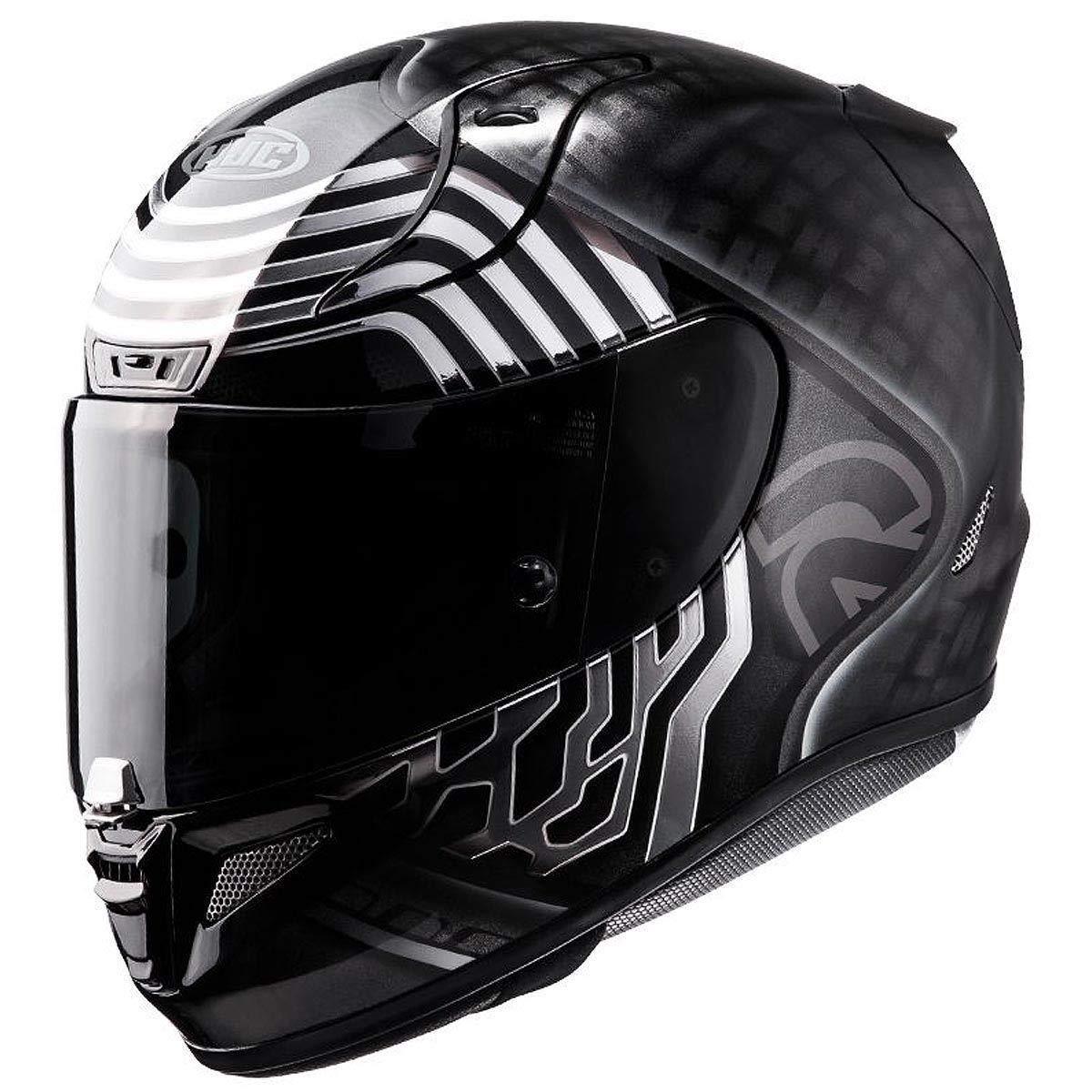 Black//Silver, Large HJC Helmets Unisex-Adult Full-Face-Helmet-Style Pro Kylo Ren Motorcycle Helmet