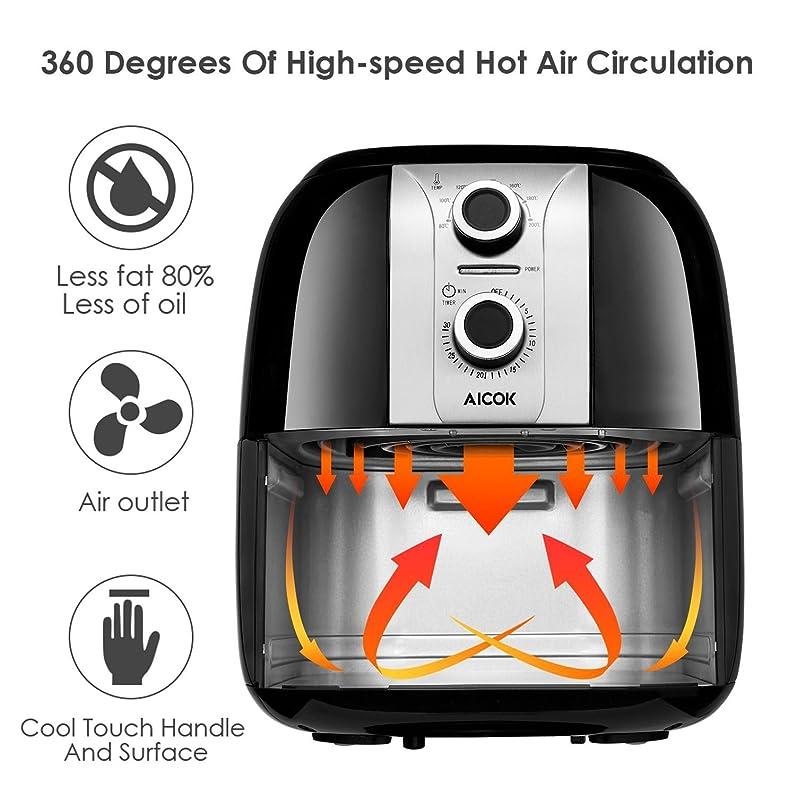 Aicok Friteuse Électrique Sans Huile 3,5L Friteuse Air Chaud Avec ...
