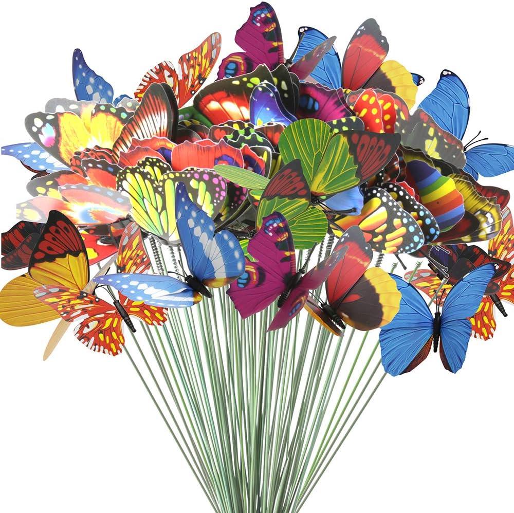 Amazon.com: Estacas de mariposa para adolescentes, 60 piezas ...