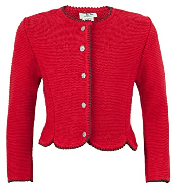 5800a2dc5d Isar-Trachten Isar-Trachten Strickjacke Amy für Mädchen - Rot -  Wunderschöne Trachtenjacke für Kinder zu Oktoberfest, Kirchweih Oder  Ausflug Mädchen: ...