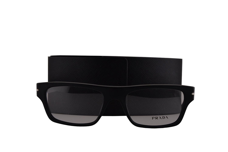 b6b3712b373 Prada PR18RV Eyeglasses 55-18-145 Matte Black w Demo Clear Lens 1BO1O1  VPR18R VPR 18R PR 18RV  Amazon.co.uk  Clothing