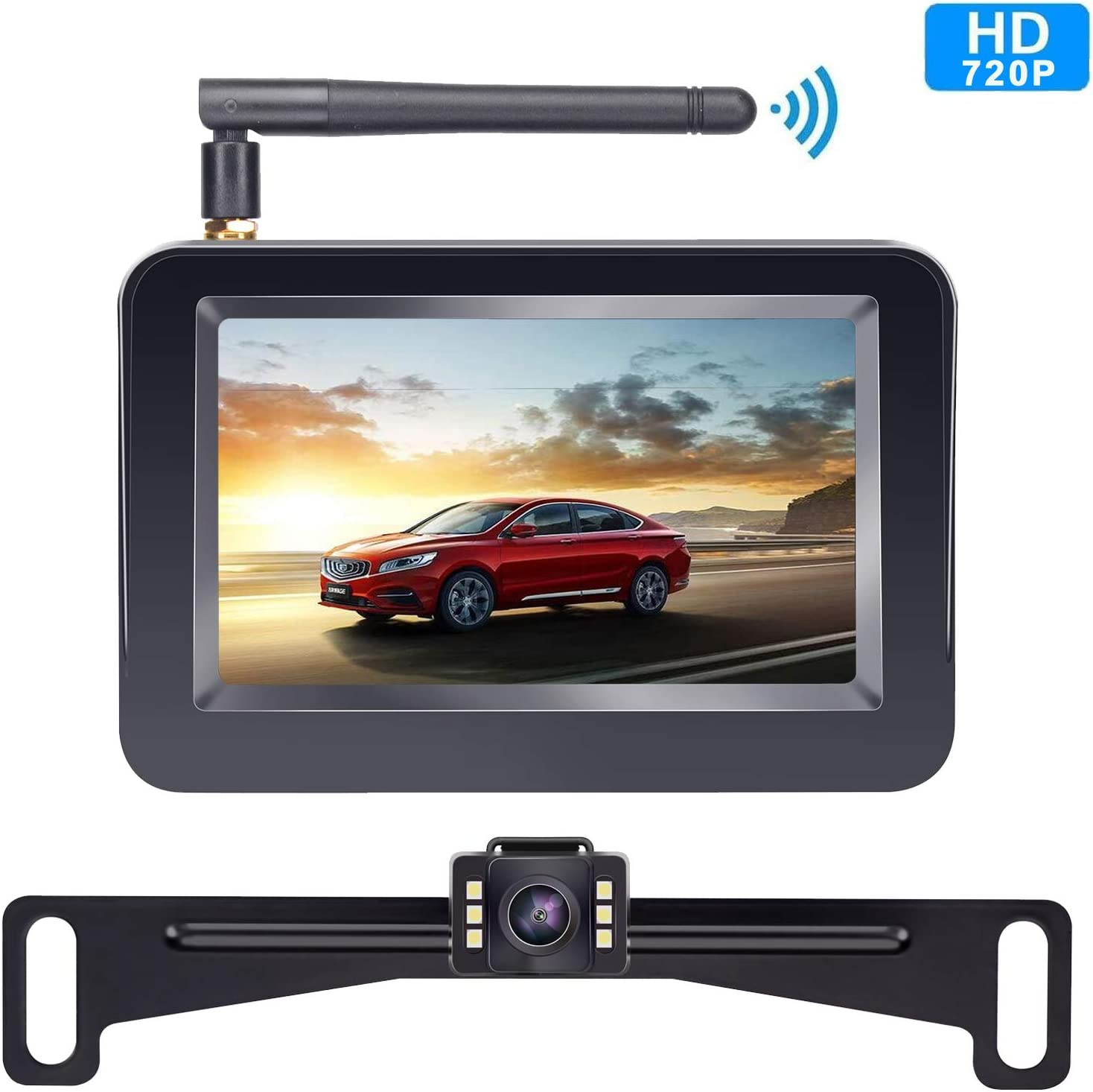 Yarky Windshield Mount Bracket Suction Cup for 4.3 Inch or 5 Inch Monitor of Backup Camera System