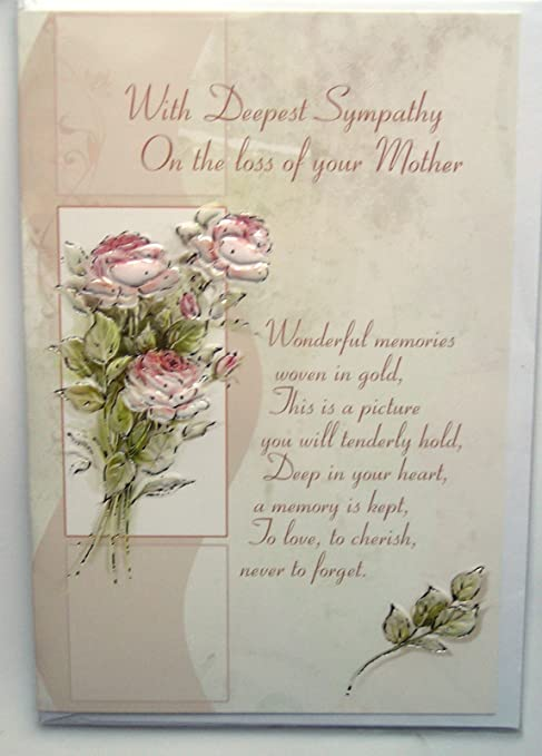 With Deepest Sympathy On The Loss Of Your Mother Card Christian