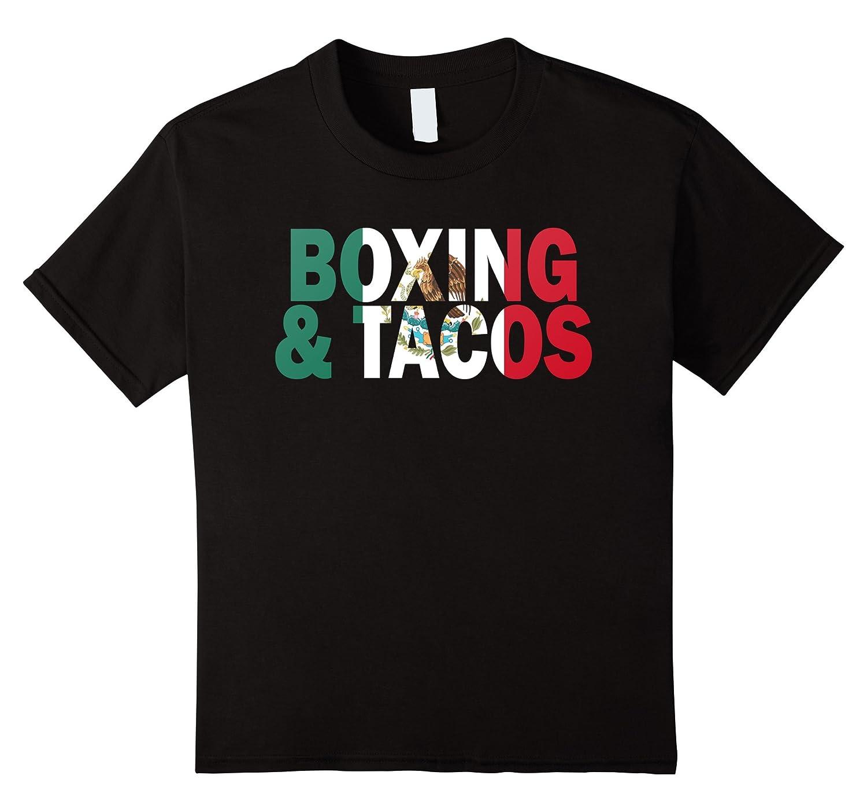Boxing Tacos Funny Mexico T shirt-Awarplus