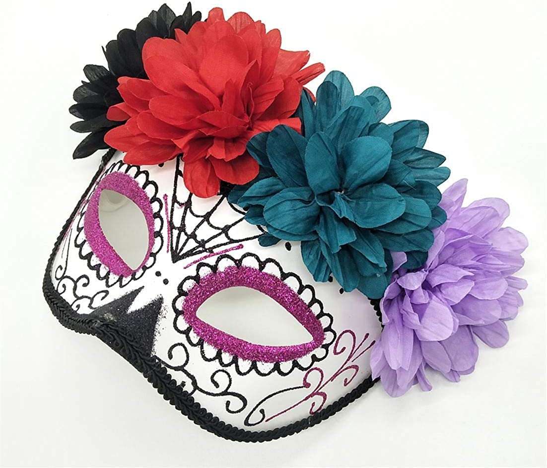 Womens Day of The Dead Masquerade Mask Venetian Party Mask Halloween Costumes Mardi Gras Mask