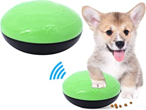 ShawFly Pet Dog Vocal Toy Dog Treat Ball Food Dispenser Interactive Toys Anti-bite Leaky Ball with Sound for Small Medium Dogs and Cats (Green)