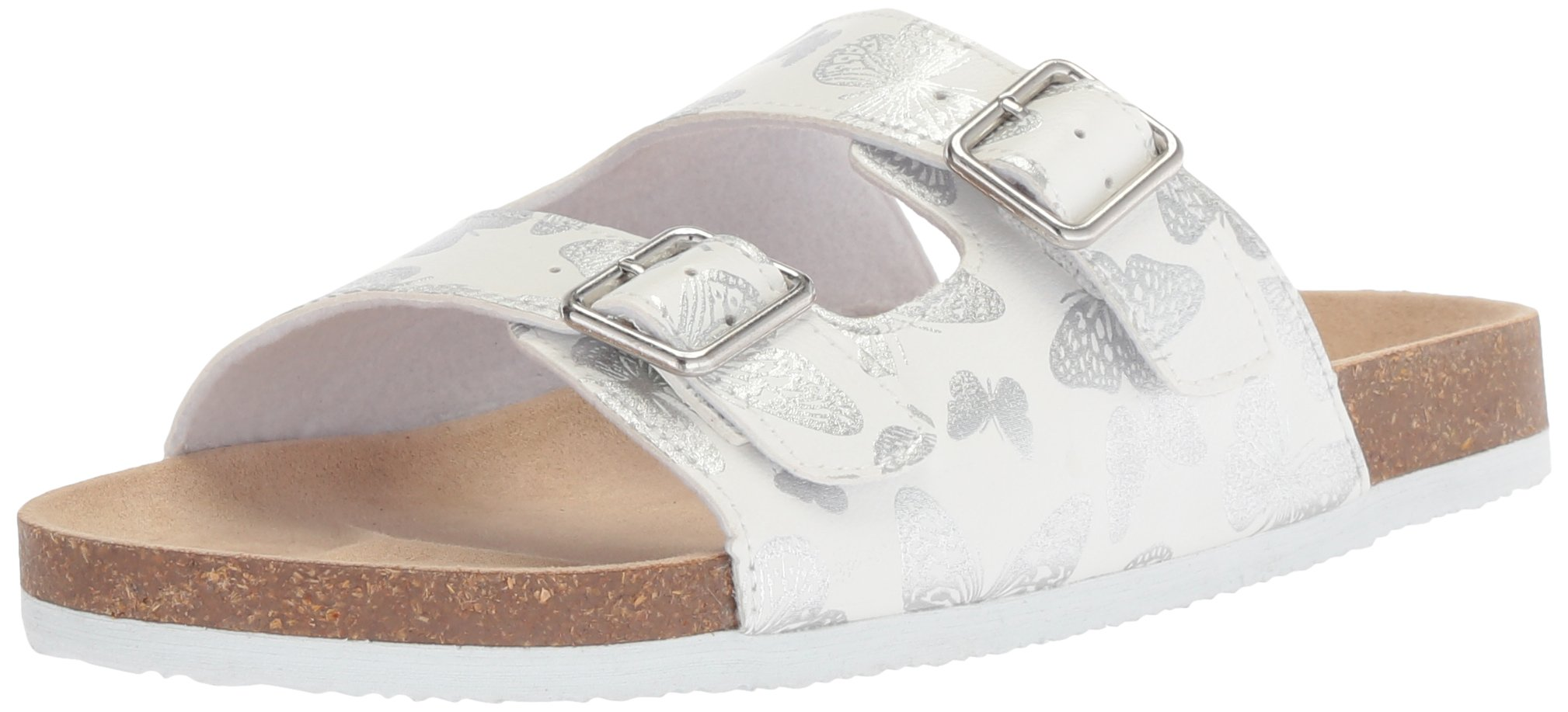 The Children's Place Girls' BG Butterfly LUN Flat Sandal, White, Youth 11 Medium US Big Kid