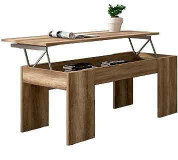 Studio Decor Table Basse Relevable Lara Couleur Bois Ceruse Marron