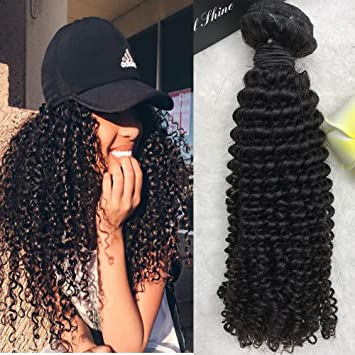 Full Shine 14 inch Curly Afro Weave for Black Women Hot Sale Brazilian Curly  Hair Bundle 8ae87873d4aa