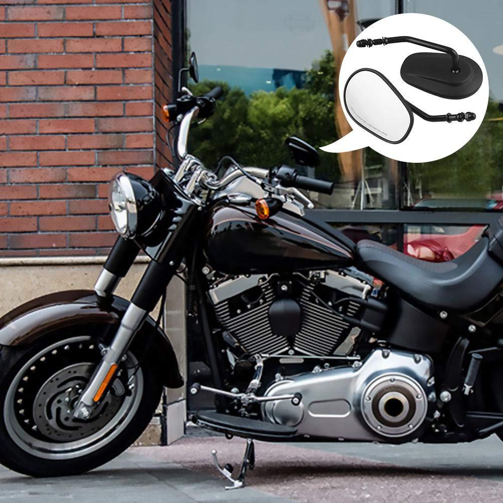 cuffslee Motorrad-r/ückspiegel Motorrad-zubeh/ör 2 ST/ÜCKE Motorrad-r/ückspiegel F/ür Harley Davidson 360Grad Rotation Einstellbare Glatte Spiegel