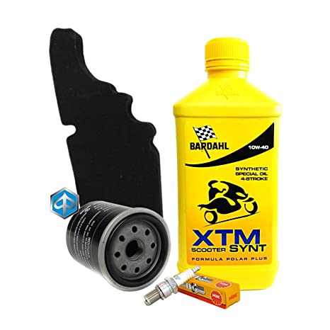 Tagliando Bardahl XTM 10 W40 Filtro Aceite Aire Piaggio ...