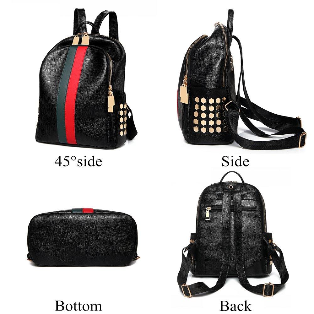 Mynos Backpack Bag Women Mini Rucksack Travel Bookbag For Girls Backpack Leather Bag Ladies Purse And Handbags by Mynos (Image #2)