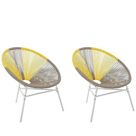 Sedie Da Esterno Design.Set 2 Sedie Da Esterno Da Balcone E Terrazzo Design