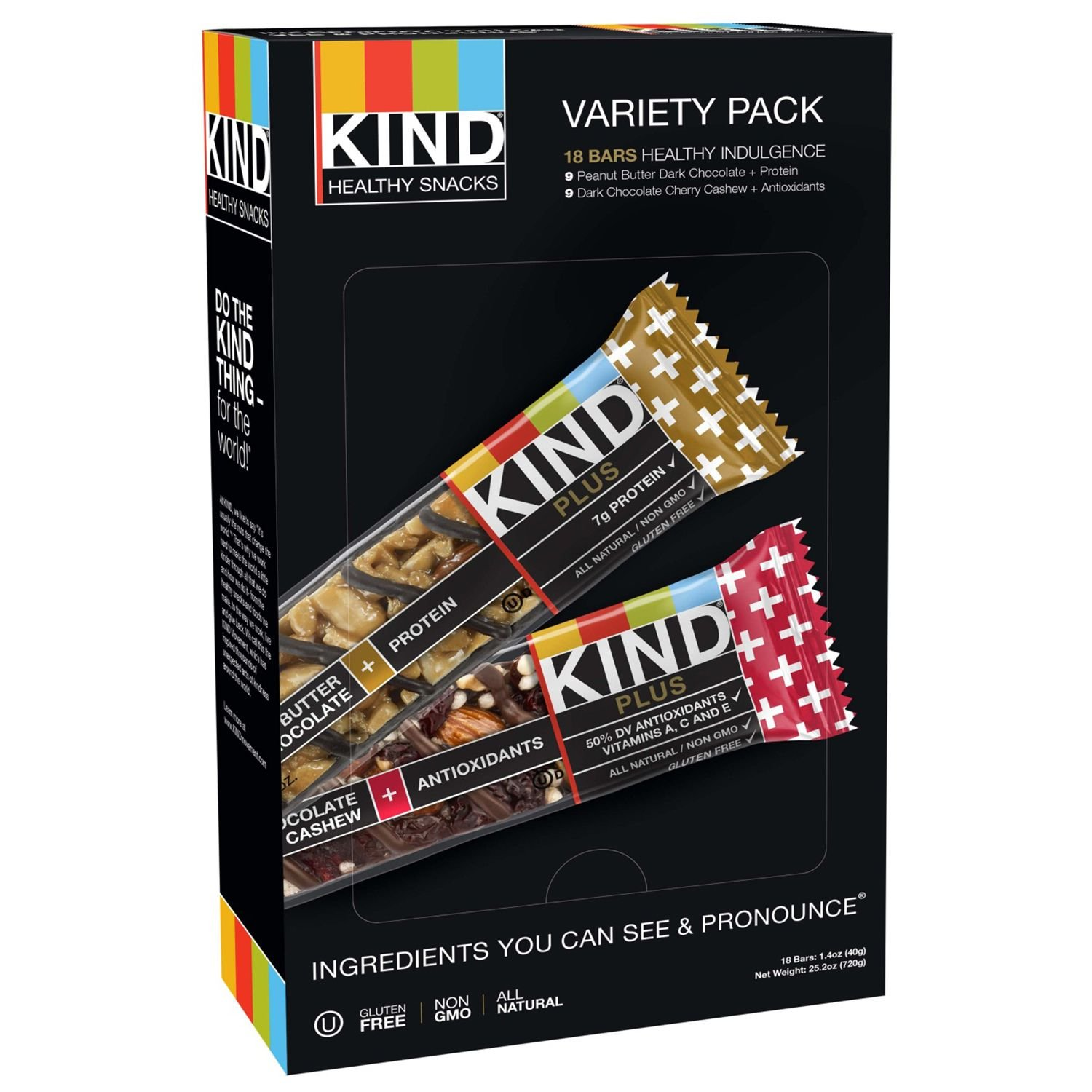 KIND Plus Bars, Variety Pack (1.4 oz. bars,18 ct.) (pack of 6)