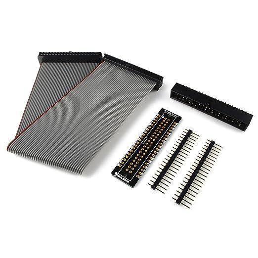2 opinioni per RPi GPIO T-Cobbler, Kit scheda Breakout Board con cavo a nastro 40 pin da 20 cm,