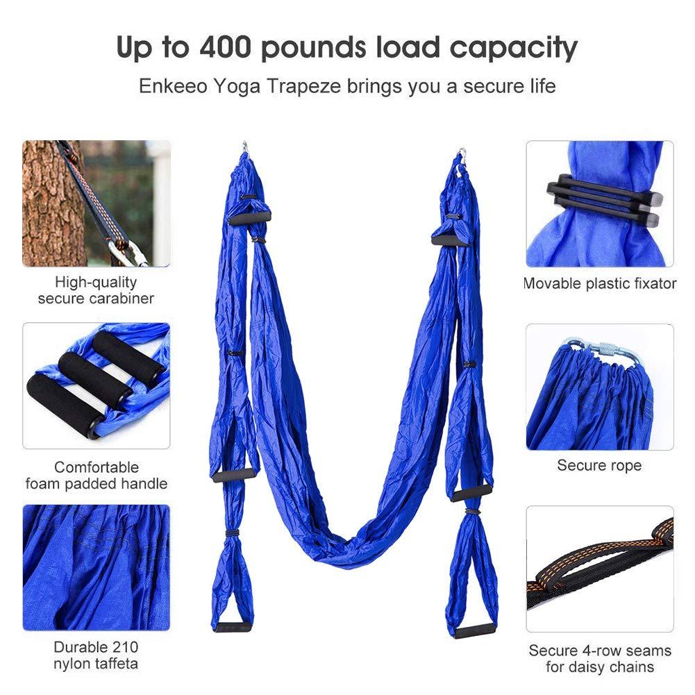 CleanDell Yoga Hammock Set Aerial Silk Yoga Set Safe Deluxe Aerial Kit Antigravity yoga Swing/Sling/Inversion Tool