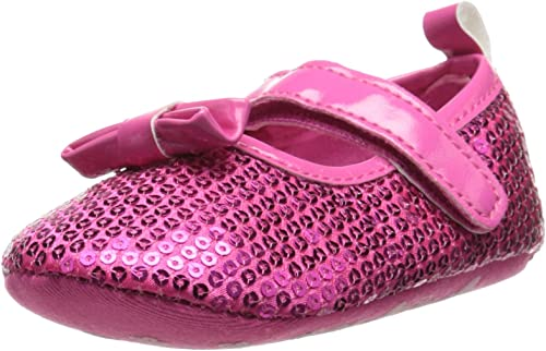 NEW BABY GIRLS LAURA ASHLEY SPARKLY PINK PATENT DRESS SHOE SZ 4