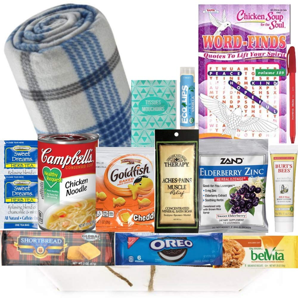 'Thinking of you' basket for sick person