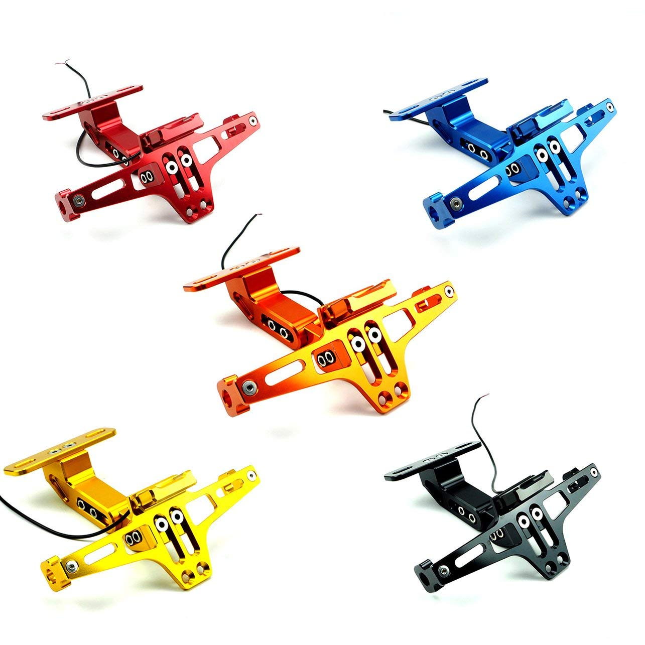 Motorcycle Rear License Plate Holder Frame Indicator Lamp Accessories