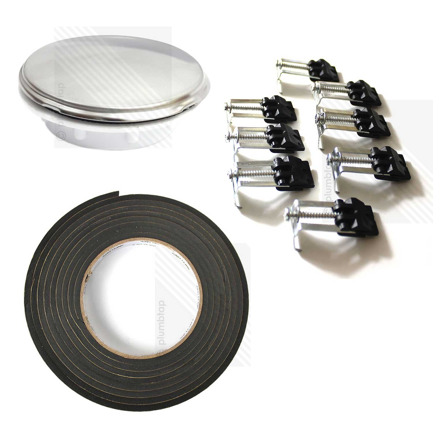KITCHEN SINK FIXING KIT: 8 x Stainless Steel Clips, 3 Metres of Foam ...