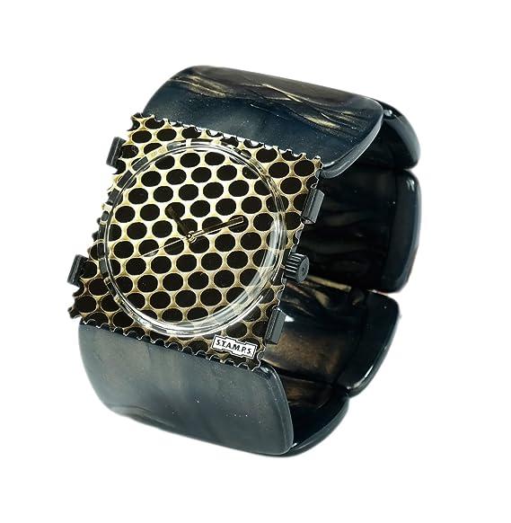 S.T.A.M.P.S. Stamps Reloj Completo - Esfera Oro Weaving con Belta Shape Shadow Oro: Amazon.es: Relojes