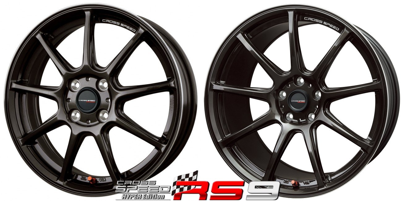 CROSSSPEED RS9 軽量ホイール HANKOOK VENTUS V8-RS H424 155/55R14 14インチ サマータイヤ & ホイール 4本セット ライフ / アルト etc B01N4W50GR