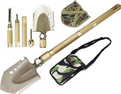 Military Portable Folding Shovel,Compact Camping Gear for Car,Gardening,Snow Sho