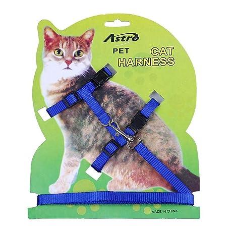 Arnés para gato y correa ajustable collar de arnés para control de animales, correa para