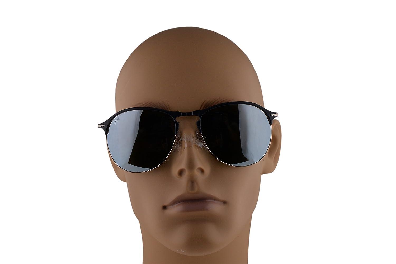 79cecfb112eed Amazon.com  Persol PO7649S Sunglasses Blue Bronze w Light Green Mirror  Silver Lens 53mm 107330 PO 7649-S PO7649-S PO 7649S  Clothing