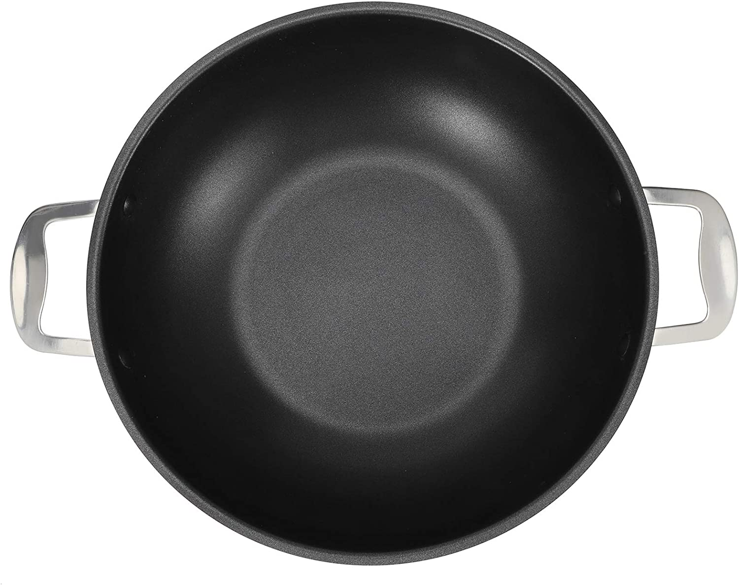 Non Stick Frying Pans, Composite Food Grade Stainless Steel Cooking Pan without Cover, Frying Pans with 3 Helper Handles for Induction Cooktop, Gas Stove, Ceramic Cookers (300x95mm)