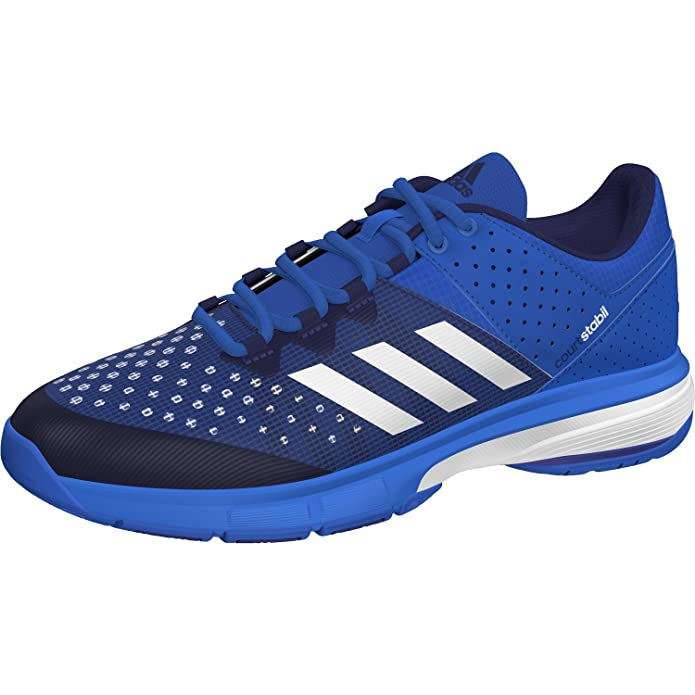 adidas Court Stabil Mens Indoor Court Shoe Badminton/Squash/Racquetball/Volleyball