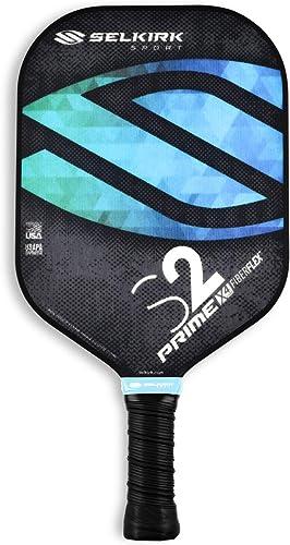 Selkirk Prime S2 Pickleball Paddle - USAPA Approved - X4 Polypropylene Core - FiberFlex Fiberglass Face S2, Ocean Blue