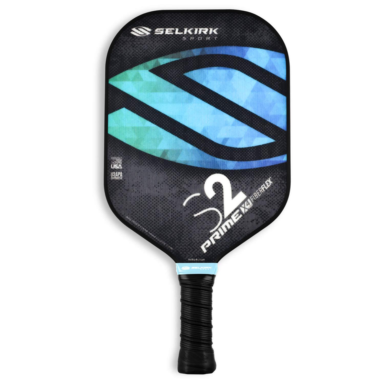 Selkirk Prime S2 Pickleball Paddle FiberFlex Fiberglass Face Selkirk Sport USAPA Approved S2, Ocean Blue X4 Polypropylene Core