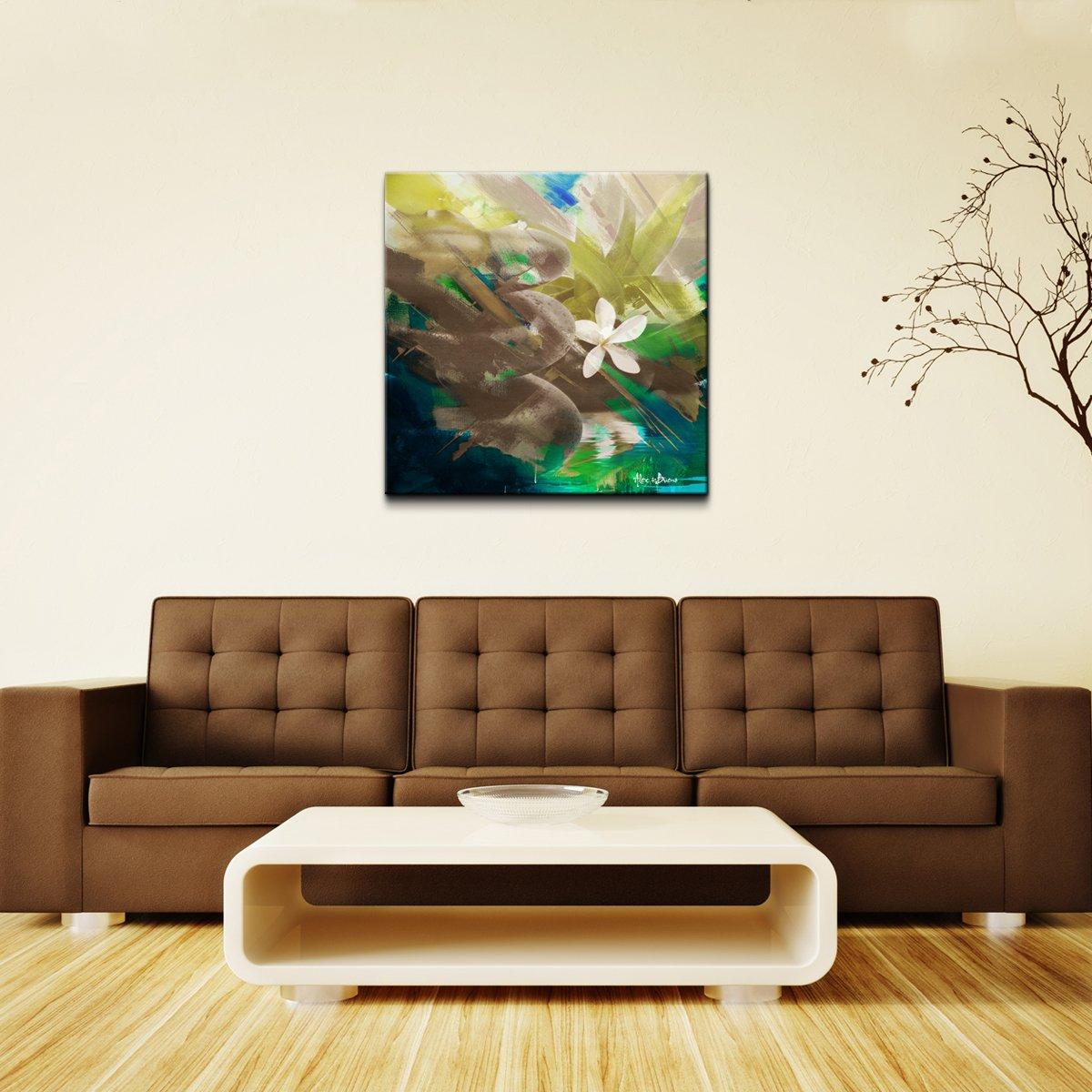 Ready2HangArt Alexis Bueno ''Abstract Stone Spa'' Oversized Canvas Wall Art