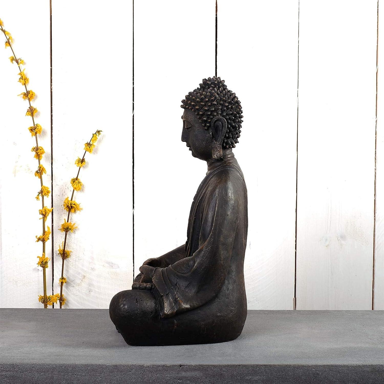 scultura asia 40 cm STATUA DI BUDDHA LOTUS resina