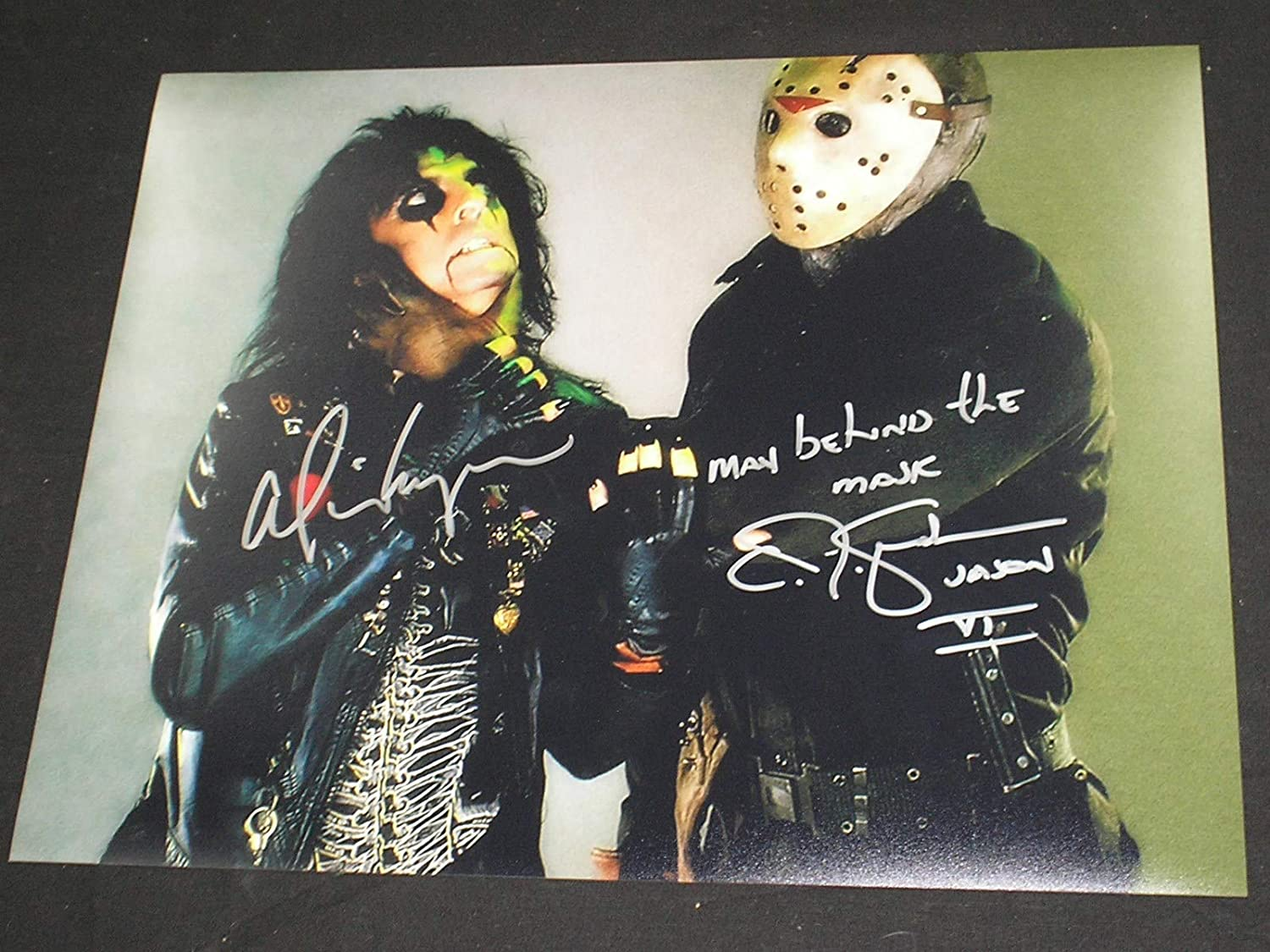 Alice Cooper Cj Graham Dual Signed Man Behind The Mask 11x14 Photo Friday The 13th At Amazon S Entertainment Collectibles Store