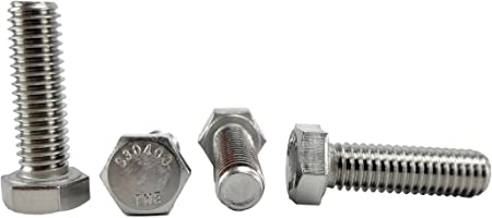 "50 ea 1//4/""-20 x 1-1//2/"" S30400 THE 304 Stainless Steel Hex Cap Bolt full thread"