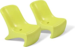 product image for Step2 Junior Chic 2Piece Chair Set   Kids Plastic Chair Set   Lime