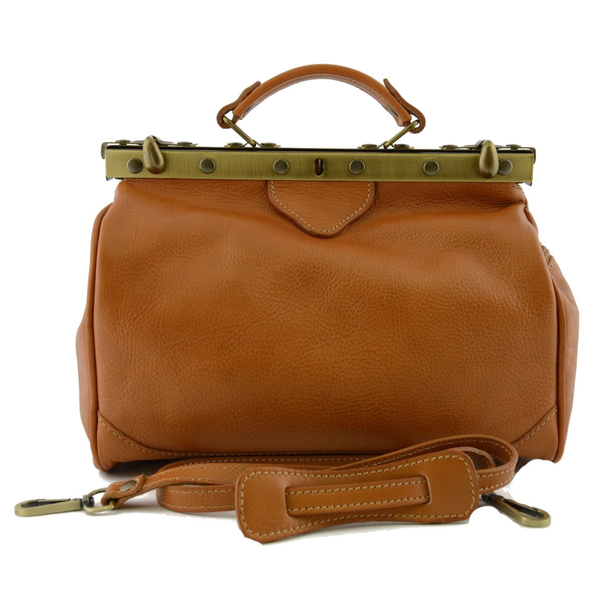 Made In Italy Genuine Leather Bag For Doctor Color Honey - Business Bag   B01GWJ71FY