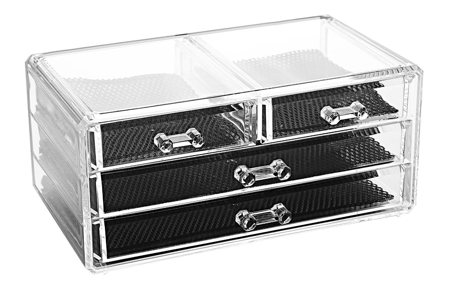 Amazoncom Acrylic Makeup Organizer Cosmetic Organizers Jewelry and