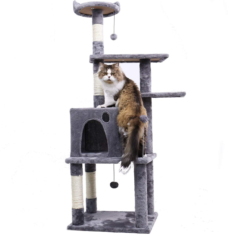 PAWZ Road Cat Tree Medium Cat Tower-Gray 57''