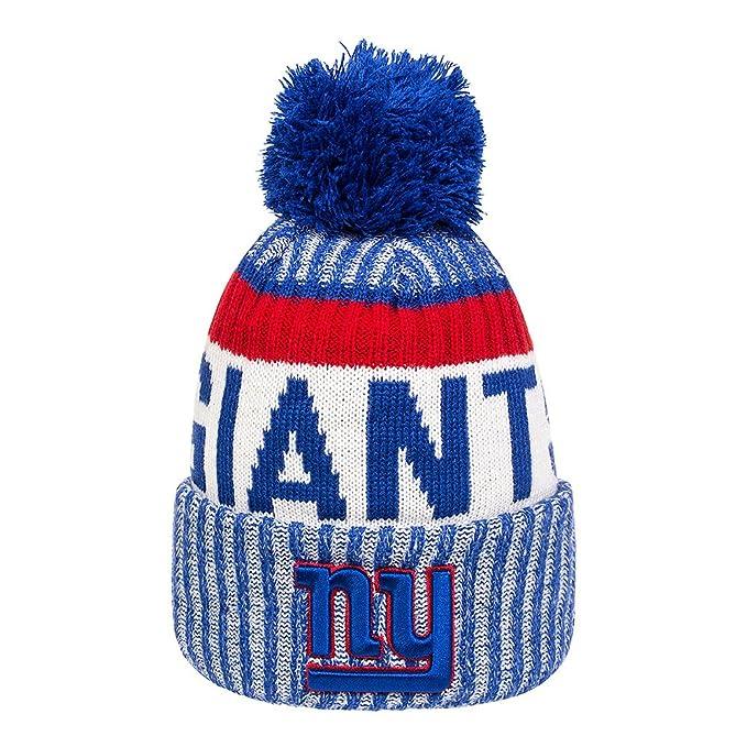 02e71238bea New Era - New York Giants - Sideline Sport Knit - NFL Bobble Hat   Amazon.co.uk  Clothing