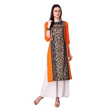 0676d066876 LW Women s Casual Straight Kurti  Amazon.in  Clothing   Accessories