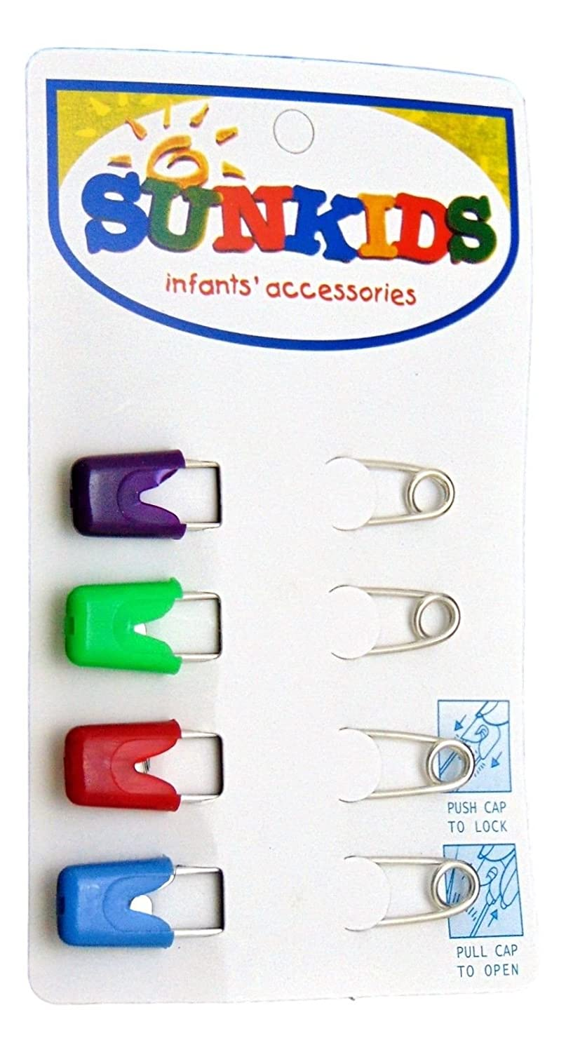 Nsstar Baby Infant Kids Cloth Diaper Nappy Pins Safety Safe Hold Clip Locking Cloth 50PCS
