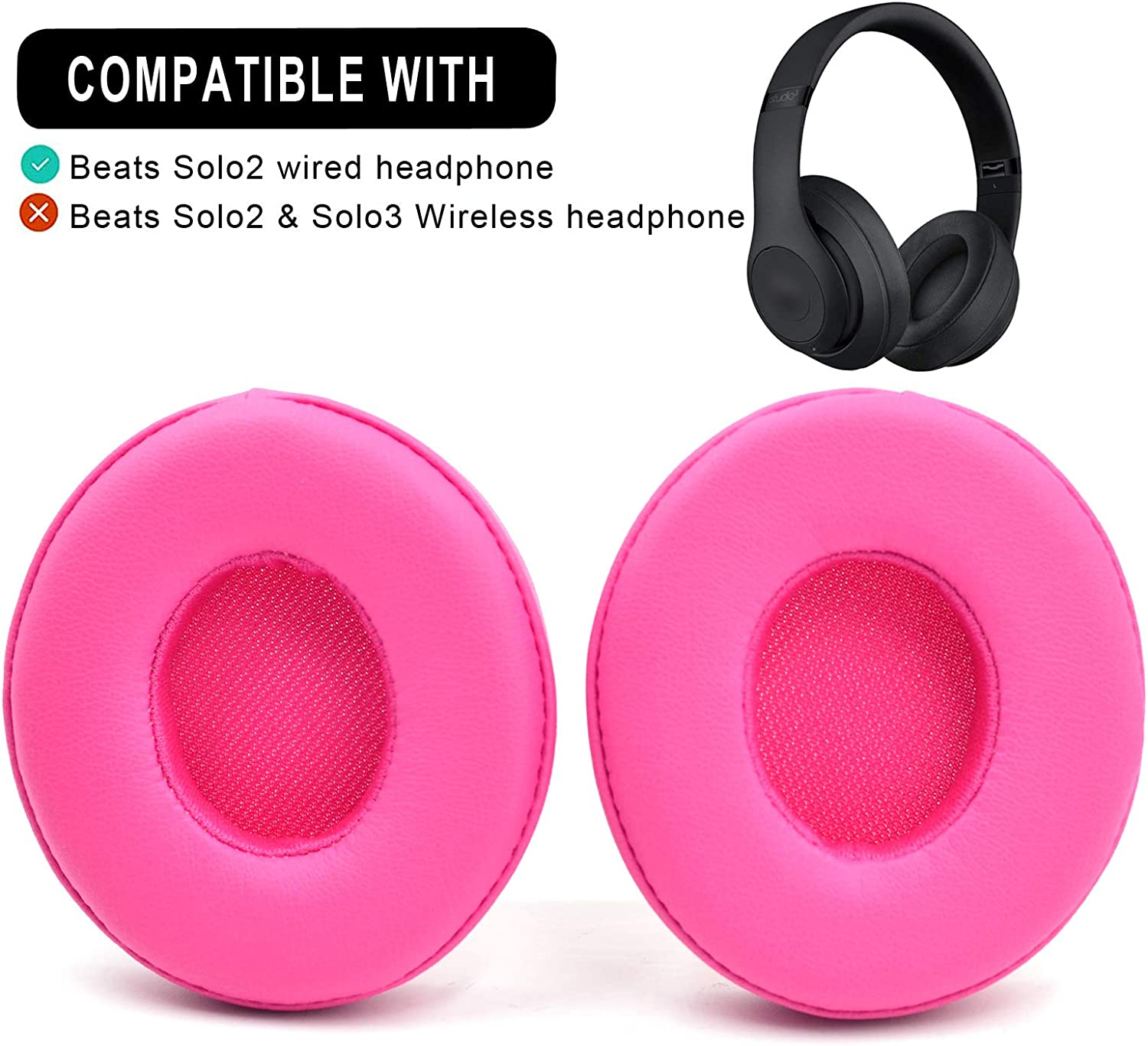 Amazon Com Defean Solo 2 Earpad Replacement Easy To Install Cushions For Beats Solo 2 Wired Over Ear Beats Headphone Pink Home Audio Theater
